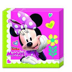 Servilletas Minnie Mouse 33 x 33 cm, Pack 20 u.