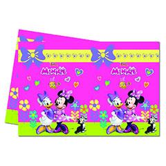 Mantel Minnie Mouse 180 x 120 cm plástico, Pack 1 u.