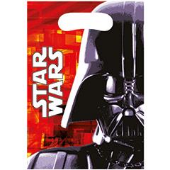 Bolsas de plástico Star Wars piñata, Pack 6 u.