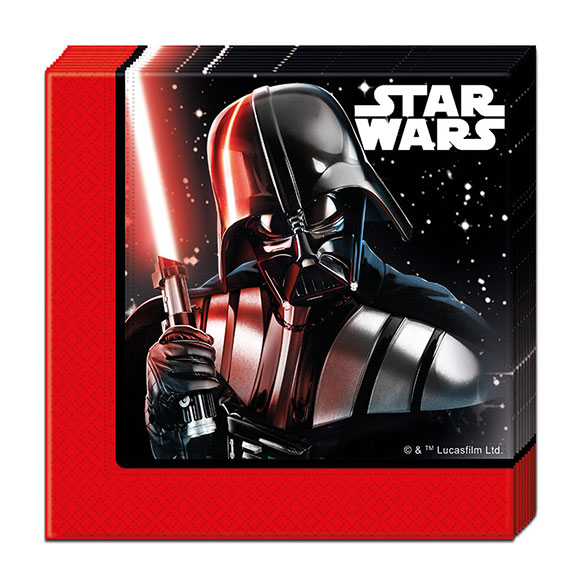 Servilletas Star Wars 33 x 33 cm, Pack 20 u.