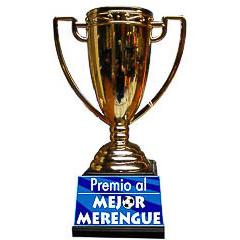Trofeo Merengue copa dorada con peana negra