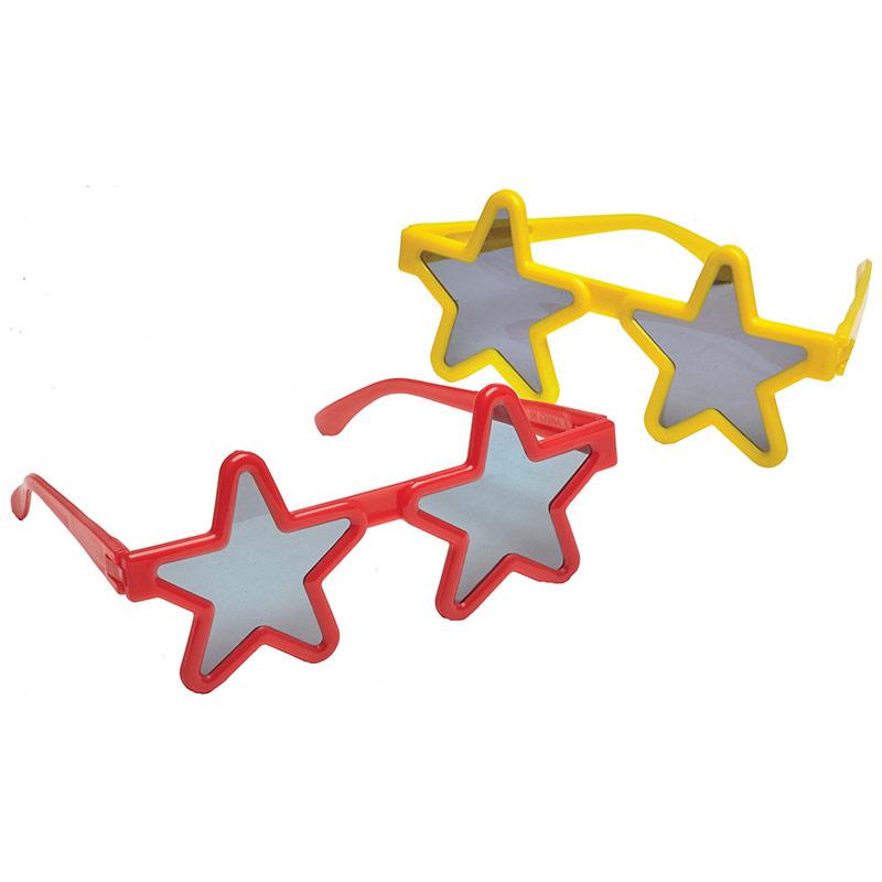 Gafas forma estrella, Pack 4 u.