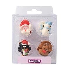 Decoración de azúcar comestible Navidad, Culpitt