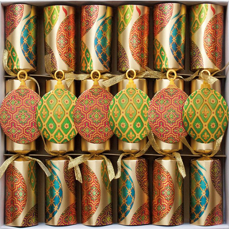 Imperial Ornaments Celebration. Christmas Crackers. 31 cm, Pack 6 u.