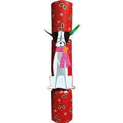 Yule Dog Pet Christmas Favor. Christmas Crackers. 31 cm, Pack 1 u.