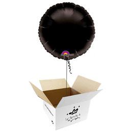 Globo redondo Negro en caja sorpresa