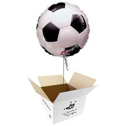Globo Balón de Fútbol en caja sorpresa
