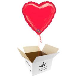 Globo Corazón Rojo en caja sorpresa