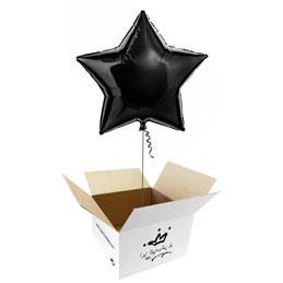 Globo Estrella Negra en caja sorpresa
