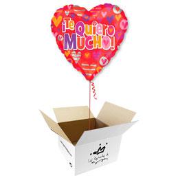 Globo Corazón Te Quiero mucho en caja sorpresa
