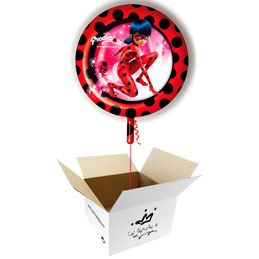 Globo Ladybug en caja sorpresa