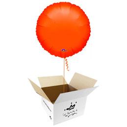 Globo redondo Naranja en caja sorpresa