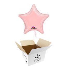 Globo Estrella Rosa en caja sorpresa
