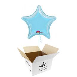 Globo Estrella Azul cielo en caja sorpresa