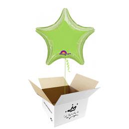 Globo Estrella Verde pastel en caja sorpresa