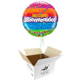 Globo Bienvenido, Welcome en caja sorpresa