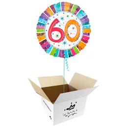 Globo 60 años en caja sorpresa