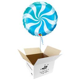 Globo Caramelo azul en caja sorpresa