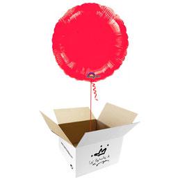 Globo redondo Rojo en caja sorpresa