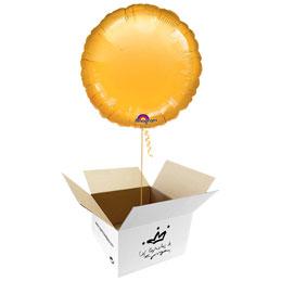 Globo redondo Dorado en caja sorpresa