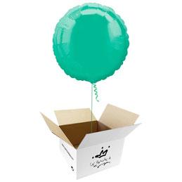Globo redondo Verde Agua en caja sorpresa
