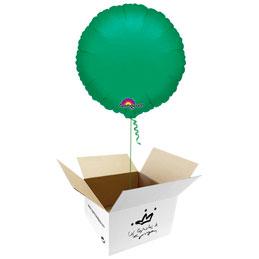 Globo redondo Verde en caja sorpresa
