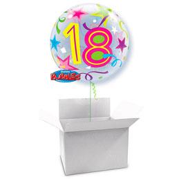 Globo Burbuja 18 años en caja sorpresa