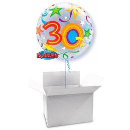 Globo Burbuja 30 años en caja sorpresa