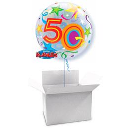 Globo Burbuja 50 años en caja sorpresa