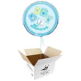 Globo Baby Shower niño en caja sorpresa