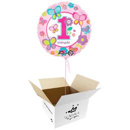 Globo Primer Cumpleaños Niña en caja sorpresa