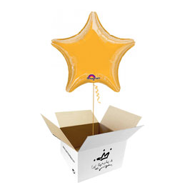 Globo Estrella Dorada en caja sorpresa