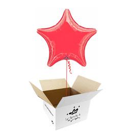 Globo Estrella Roja en caja sorpresa