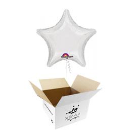 Globo Estrella Blanca en caja sorpresa
