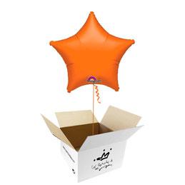 Globo Estrella Naranja en caja sorpresa