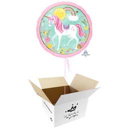 Globo Unicornio en caja sorpresa