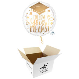 Globo Follow Your Dreams Grad en caja sorpresa
