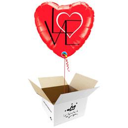 Globo Corazón Love en caja sorpresa