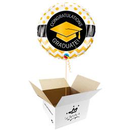 Globo Congratulations Graduate en caja sorpresa