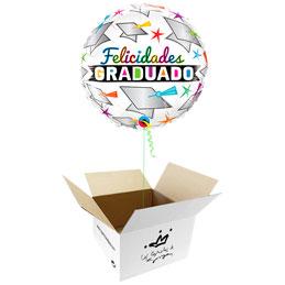 Globo Felicidades Graduado en caja sorpresa