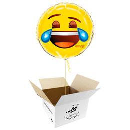 Globo emoticono Me parto de la risa en caja sorpresa