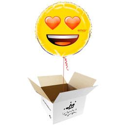 Globo emoticono Enamorado en caja sorpresa