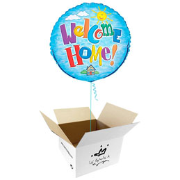 Globo Welcome Home en caja sorpresa