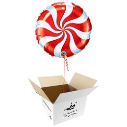 Globo Caramelo rojo en caja sorpresa