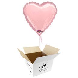 Globo Corazón Rosa en caja sorpresa