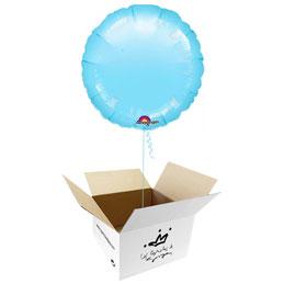 Globo redondo Azul cielo en caja sorpresa