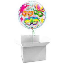 Globo Burbuja Carnaval en caja sorpresa