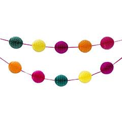 Guirnalda bolas de papel 5 colores - Ítem