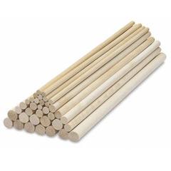 Palitos de madera sujeción tarta varias capas 30 cm, Pack 12 u.