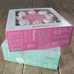 Caja para tartas con ventana